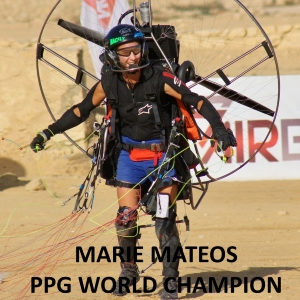Marie Mateos ppg world champion witheprops carbon propeller paramotor paratrike powered paragliding ppg